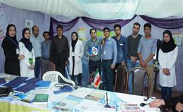 غرفه دانشکده بهداشت در نمایشگاه دستاوردها وتوانمندی های سلامت استان